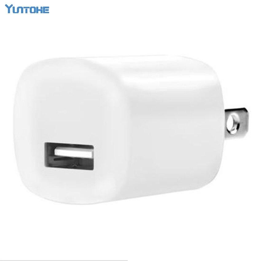 Cargador de pared de viaje Blanco adaptador de corriente ee.uu. enchufe USB cargador de CA para iPhone 7 De Apple 6 8 8 plus para IPod 100 unids/lote