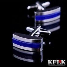 KFLK bijoux 2020 chemise boutons de manchette pour hommes cadeau marque boutons de manchette bleu pas cher boutons de manchette haute qualité abotoaduras bijoux