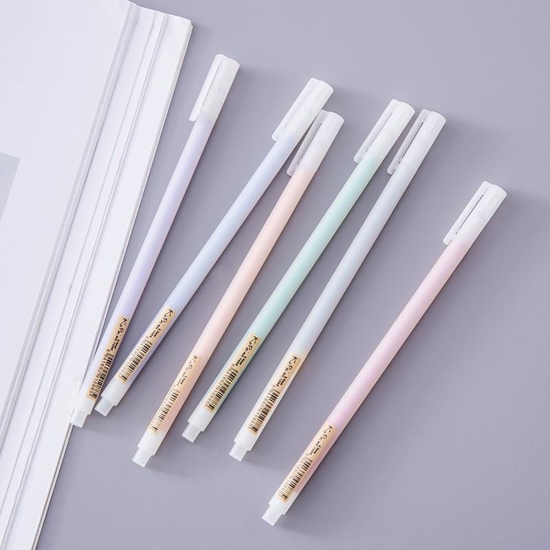 1 PCs Korean creative student stationery simple wind no print pen transparent scrub watercolor Neutral pen