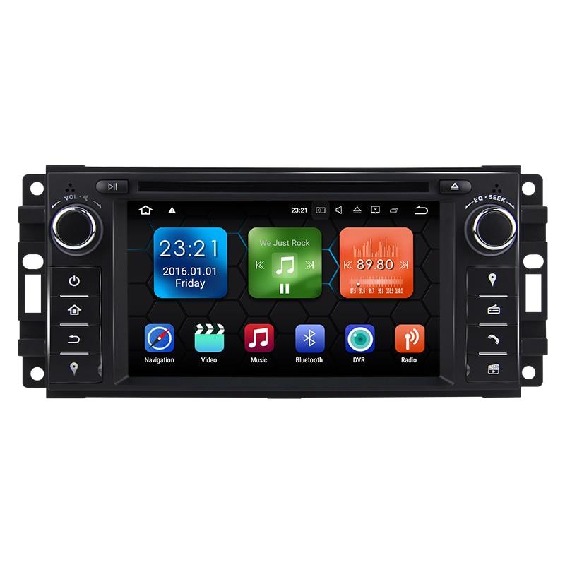 "6.2 ""android rádio do carro áudio sat nav unidade de cabeça para jeep wrangler compass comandante grand cherokee chrysler sebring 300c dodge"