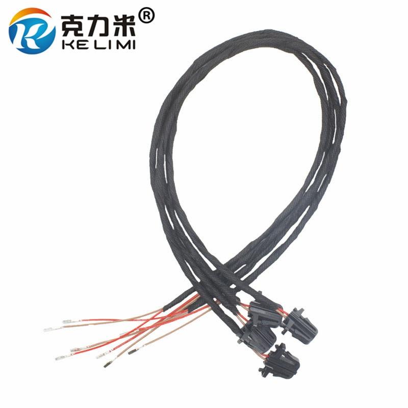 KELIMI 50cm OEM luz de advertencia de puerta LED Cable de extensión Cable de arnés para Volkswagen Golf MK5 MK6 V VI Passat B6