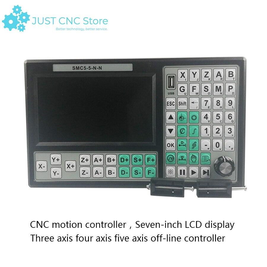 جهاز تحكم رقمي باستخدام الحاسوب بدلاً من Mach 3 USB للتحكم في الحركة ببطاقة تحكم دون اتصال 5 محاور 500KHz 7 بوصة شاشة ثلاثية الأبعاد آلة الطباعة الخشب...