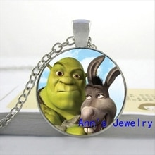 Nouveau collier pendentif en verre de la famille des bijoux en verre de la famille pendentif de collier de Cabochon HZ1