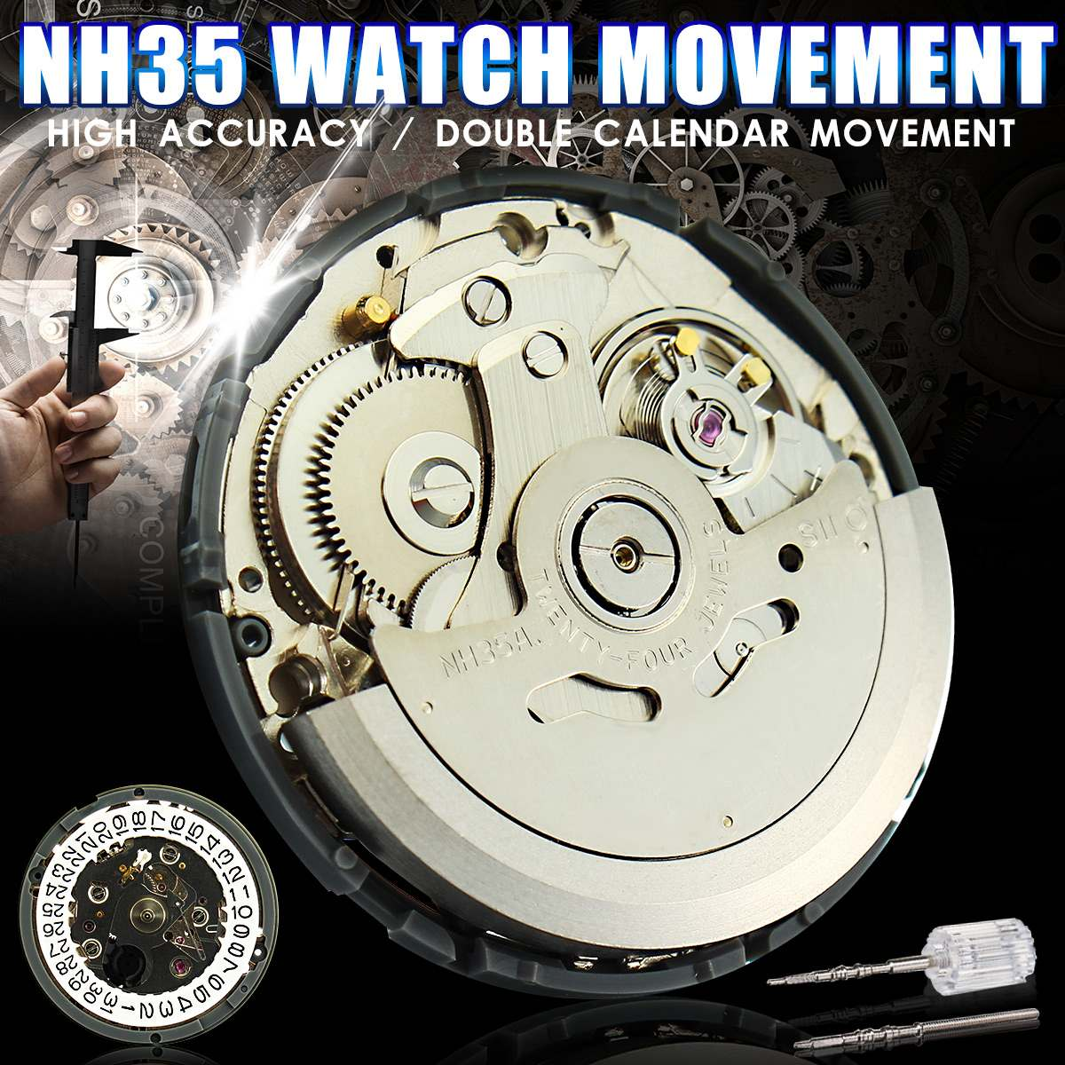 Japan Echtem NH35 Armbanduhr Bewegung Mechanische Uhr Bewegung Automatische Großhandel Neue Ankunft