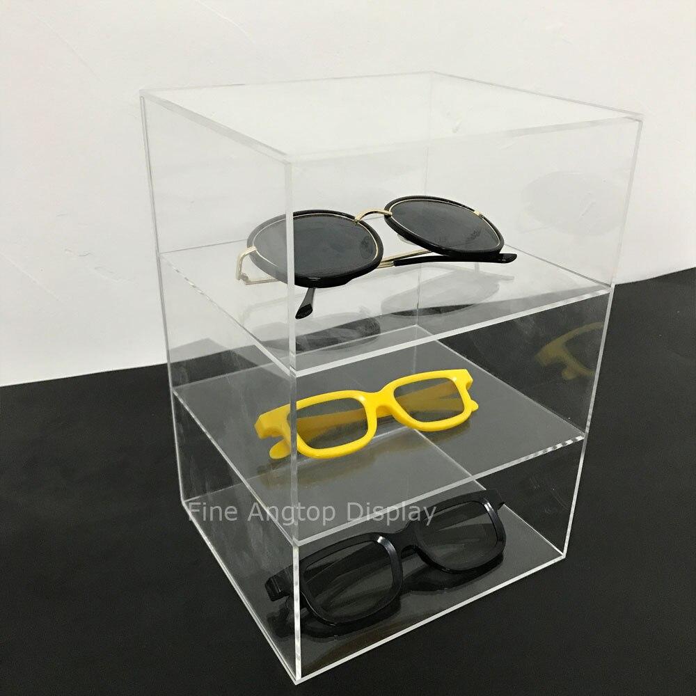 3 Layer Acrylic Sunglasses Display Eyewear Storage Case Tray Holder