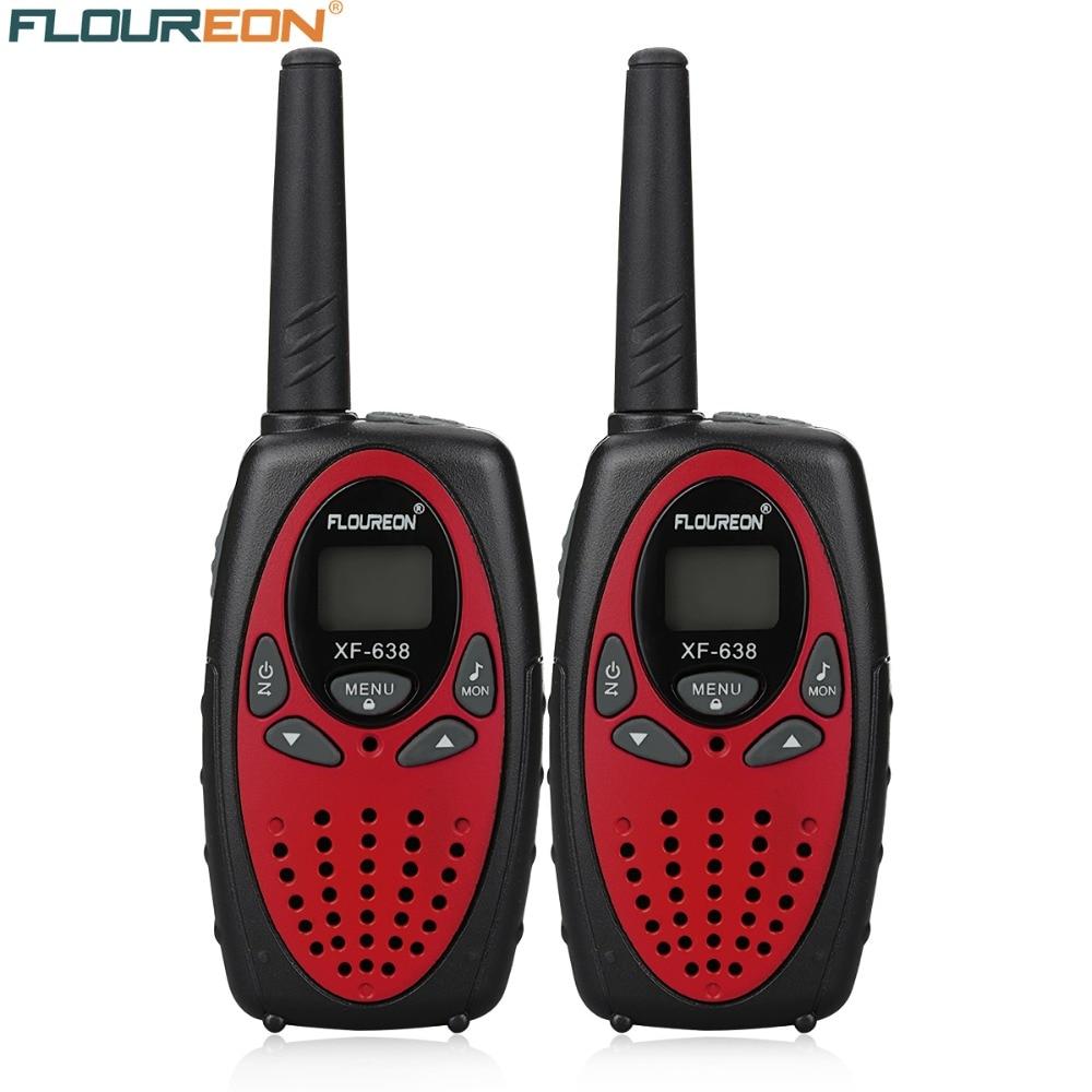 8 канальные рации FLOUREON UHF400 470MHz двухстороннее радио 3 км интерфон красный