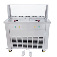 Factory price of fried ice cream machine double pan fried ice cream machine for sale