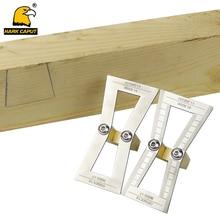 Dovetail Marker 1:5/1:6/1:7/1:8 Template Dovetail Gauge Marking Guide For Wood Joints Slopes Scriber Marking Measuring Tools