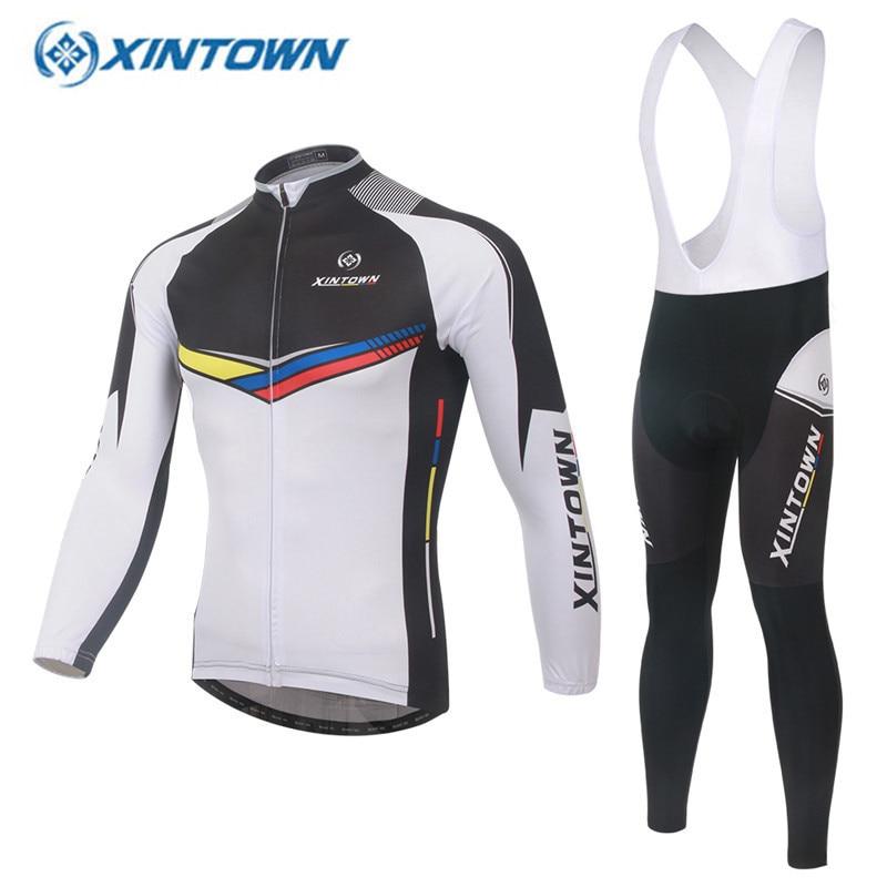 XINTOWN Pro equipo 2018 camiseta de Ciclismo conjunto de manga larga Ropa Ciclismo Invierno Auturm MTB Ropa de bicicleta Mavic
