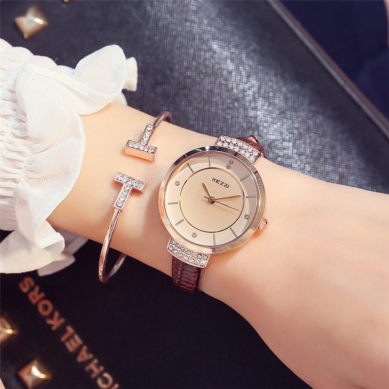 Brown Quartz Wrist Watches for Women Luxury Watch Designer Brand White Gifts for Ladies Watch Dropshipping New 2019 Hot Selling enlarge