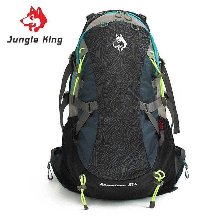 Jungle King-معدات جديدة للتخييم في الهواء الطلق, حقيبة ظهر ، للرجال والنساء ، حقيبة تسلق الجبال ، سعة كبيرة 35 لتر