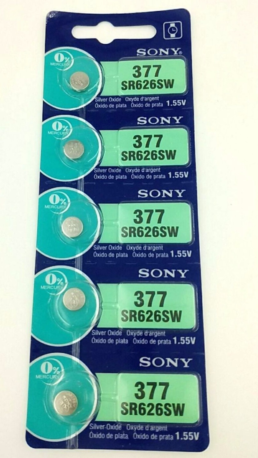 Sony Watches Battey SR626SW RS626 377 377A 377S 177 Button Battery For Electronic 5 Pcs For Women Wa