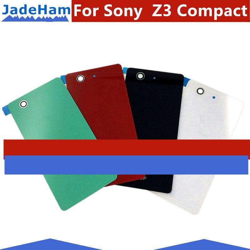1 sztuka dla Sony Xperia Z3 Compact Z3 Mini D5803 D5833 tylna szklana pokrywa baterii drzwi tylna obudowa Case Panel baterii skrzynki pokrywa