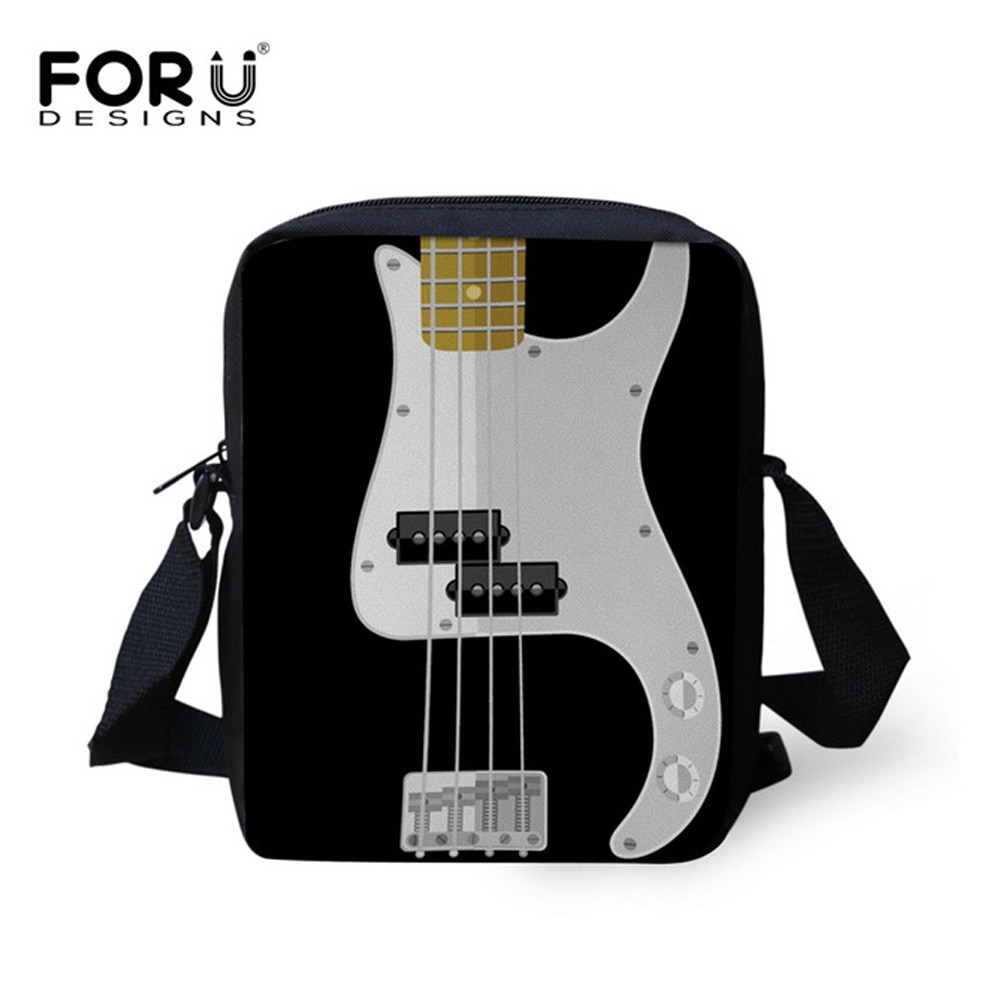 FORUDESIGNS, bolsos con estampado de guitarras para cámara 3D, bolsos de marca de lujo para mujer, bolsos de mensajero pequeños, moda para chicas, bolsos cruzados, bolso de mano