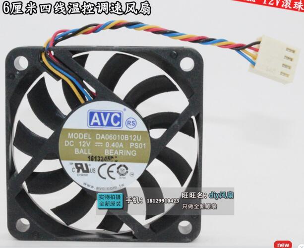 AVC DA06010B12U PS01 ventilador de refrigeración de servidor DC 12V 0.4A 60x60x10mm 4-de alambre