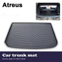 atreus car accessories waterproof anti slip trunk mat tray floor carpet pad for audi tt 2012 2013 2014 2015 2016 2017 2018