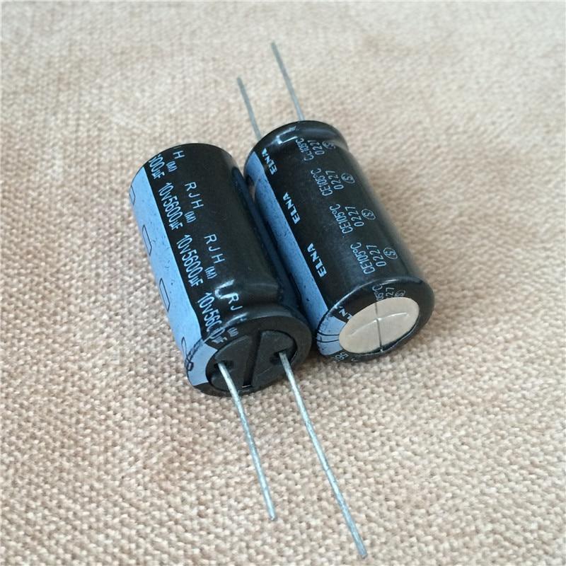 50 Uds 5600uF 10V ELNA RJH serie 16x32mm superbajo impedancia 10V5600uF condensador de Audio