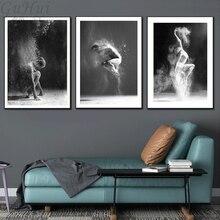 Siyah ve Beyaz Zarif Bale Dans Posteri Baskılar Fotoğraf İskandinav Model Kız Portre Duvar Sanatı Resimleri Ev Dekor Tuval Boyama