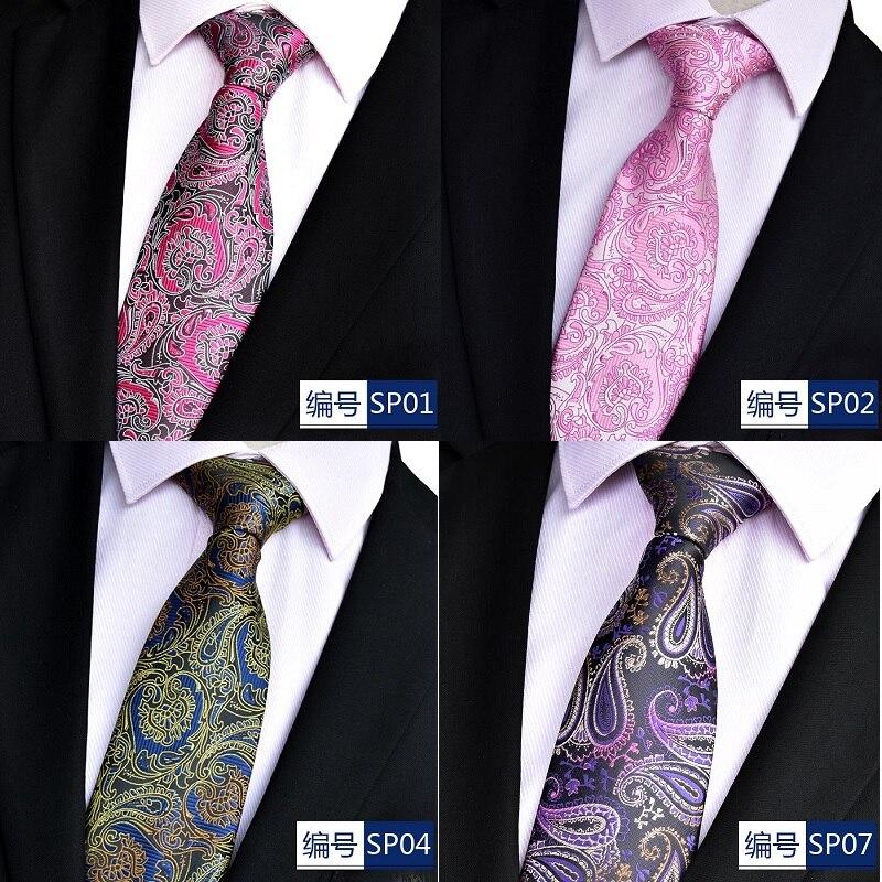 NiniRusi hot paisley tie for mens 100% silk neckties designers fashion men ties 8cm navy and red striped tie wedding недорого