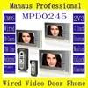 מקצועי 7 Wired וידאו דלת טלפון פעמון דלת אבטחת בית עם מצלמה שניים עד שלושה וידאו Doorphone פעמון D245a