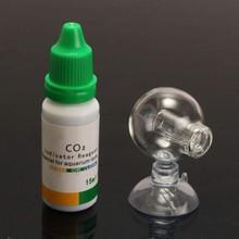 Aquarium CO2 Indicator Solution Fish Tank Liquid Test PH Term Monitor CO2 Bubble Counter For Aquarium Plant
