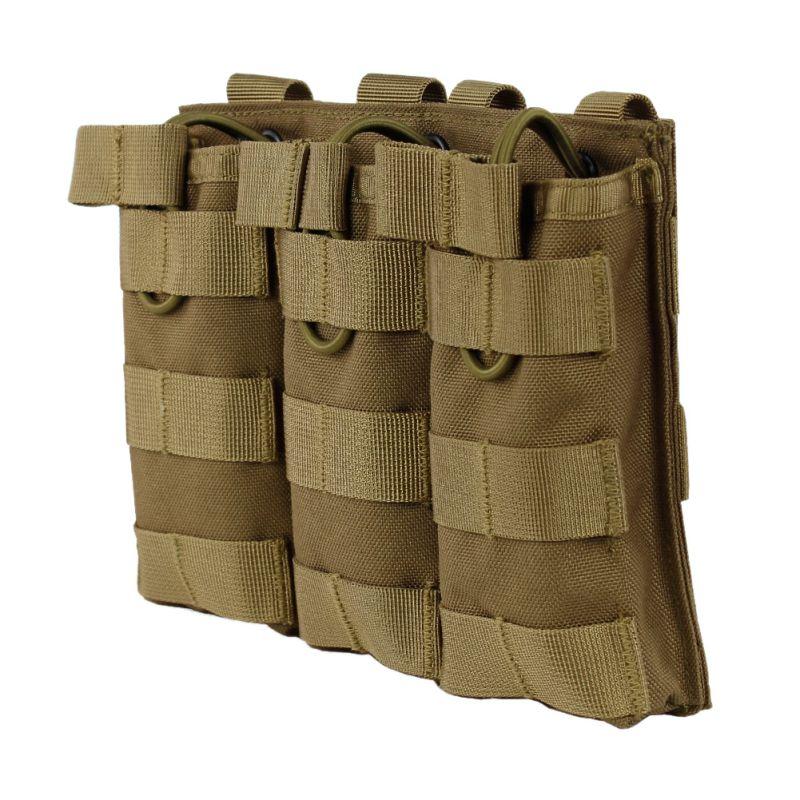 Новый тактический тройной карман для журнала MOLLE, с открытым топом, быстро, AK AR M4, FAMAS, Mag, военный чехол для пейнтбола, страйкбольного мира