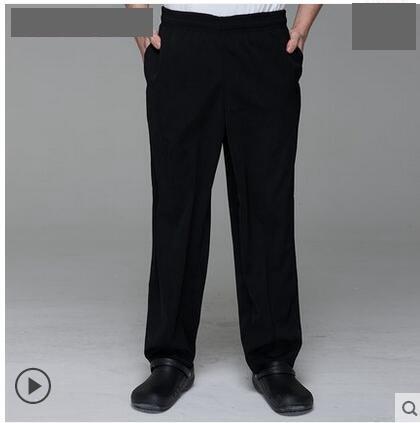 Chefs Work Pants Restaurant Waiter Overalls Hotel Uniform Pants Black Pants of The Chef Uniform Pants Man Kitchen