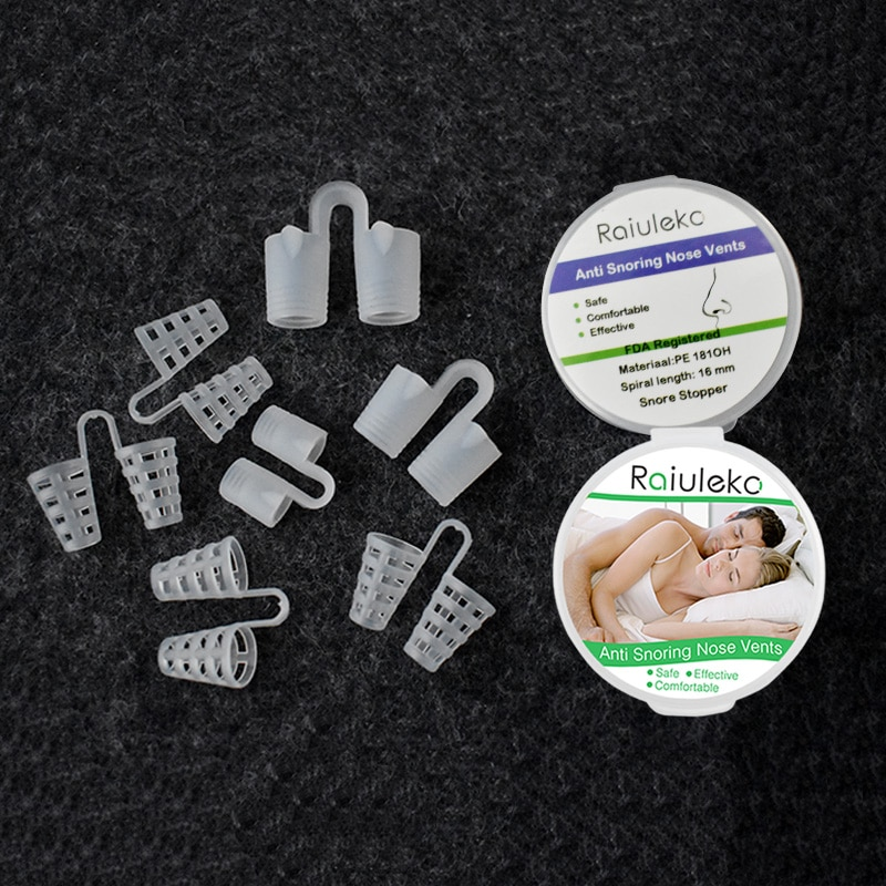 Auto Anti ronquidos nariz Clips dispositivo silicona dormir ruido tapón herramientas respirar para dormir cómodo ayuda dilatadores nasales sin tiras