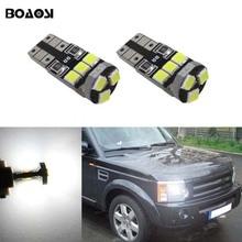 Boaosi 2x t10 w5w led 웨지 라이트 마커 램프 랜드 로버 v8 디스커버리 4 2 3x8 프리랜더 2 수비수 a8 a9