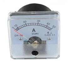 DH-50 AC pointer amperímetro analógico painel 5A 10A 20A 30A 50A 75A 100A 150A 50*50mm