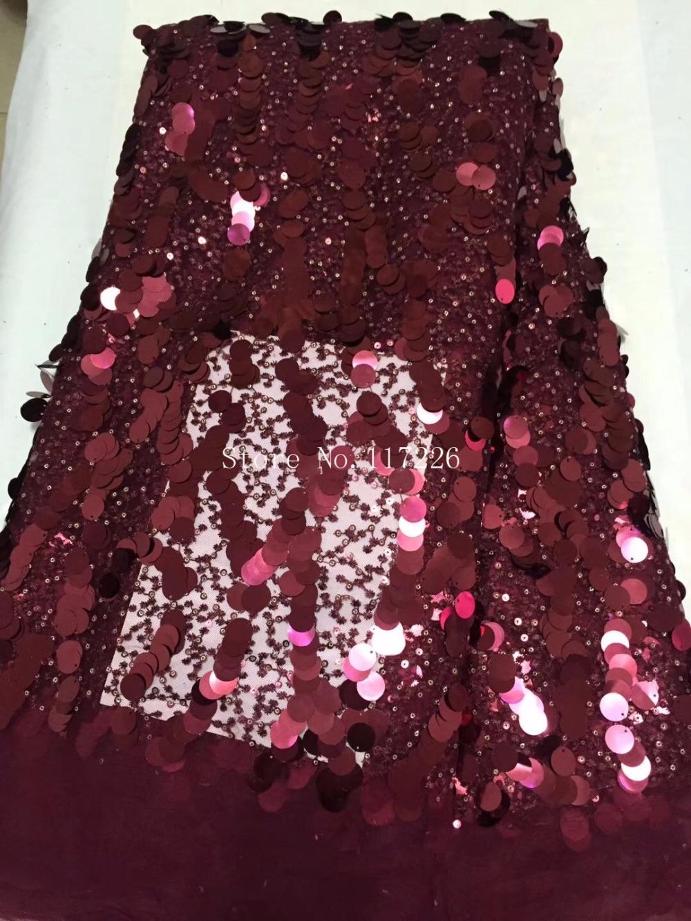 JRB-1116117 de tela de encaje de tul africano de lentejuelas de alta calidad con buen diseño para vestido de novia