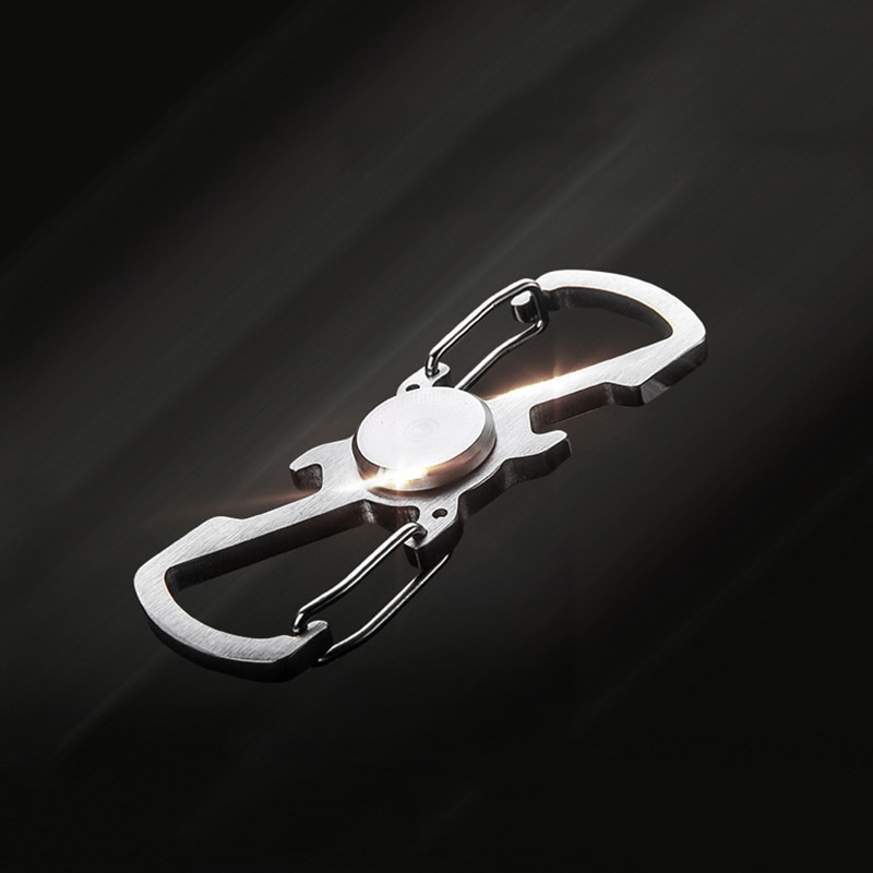 Key Fidget Spinner Hand Spinner Metal EDC Multifunction Outdoor Stainless Steel Opener Climbing Key Buckle Handspinner Toy SL449 enlarge