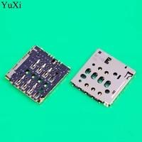 yuxi for nokia 6 7 8 n6 n7 n8 2017 n3310 sim card reader slot tray holder socket replacement
