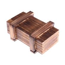 Boîtes de Puzzle en bois Vintage avec tiroir Secret, compartiment magique pour le cerveau, jouets en bois avec cadeau pour enfants