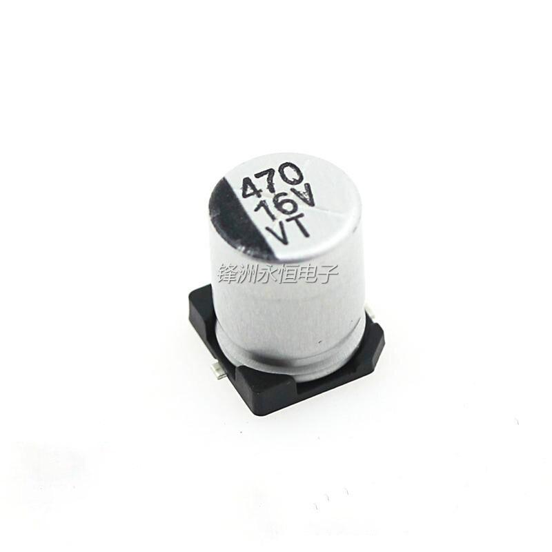 100 stks SMD elco 16V470UF 470 UF/16 V 8*10 MM SMD aluminium elektrolytische condensatoren