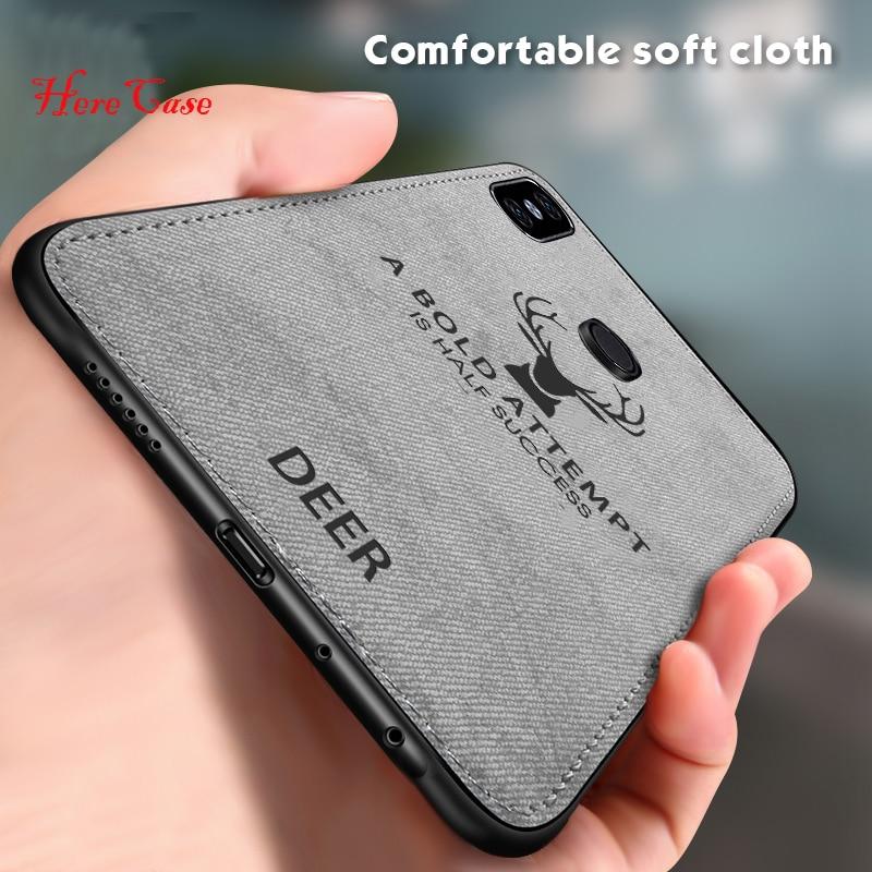 HereCase paño suave funda de teléfono para Xiaomi Mi 9 8 Lite Mi Mix 3 2S Max 3 A1 A2 Lite Mi9 SE Mi8 casos ciervos tela cubierta Capa
