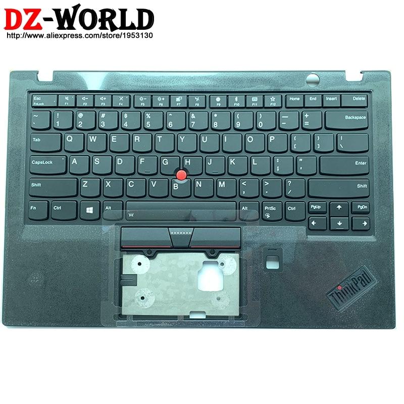 غلاف مسند المعصم مع لوحة مفاتيح إنجليزية لجهاز Thinkpad X1 Carbon 6th مع إضاءة خلفية