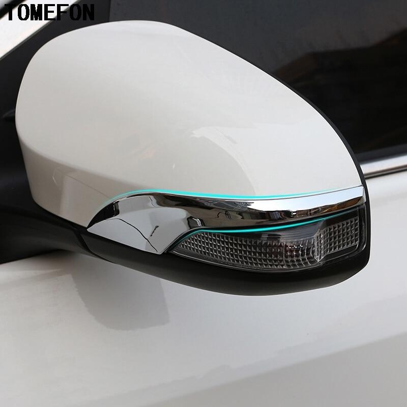 TOMEFON para Toyota Yaris Vitz 2017 2018 cubierta de tira de espejo retrovisor de coche cubierta de ajuste cubierta de adorno de moldura ABS cromado