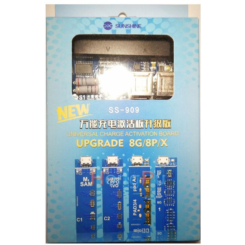 Tarjeta Universal de activación de carga de teléfono móvil SS-909 para Iphone X 8 8p 7pBattery prueba de cable de activación para ipad for Samsung