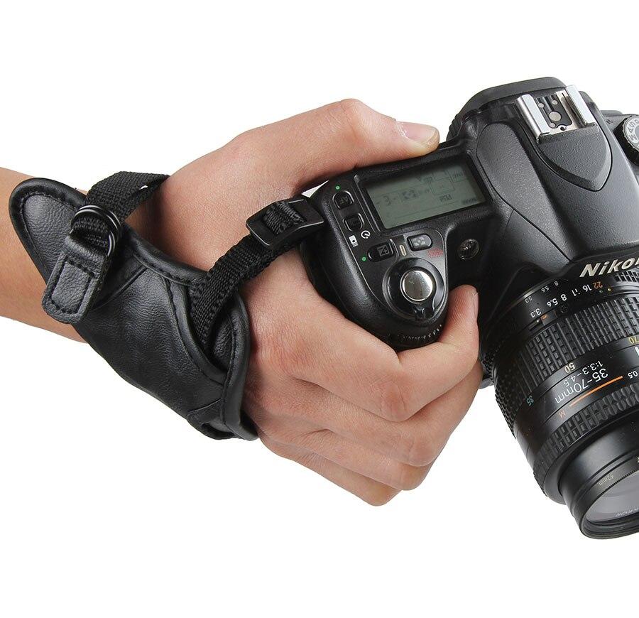 DSLR Cámara empuñadura de mano correa de hombro 1/4 Tornillo de montaje para Canon Nikon Sony Pentax cámara Fujifilm Accesorios