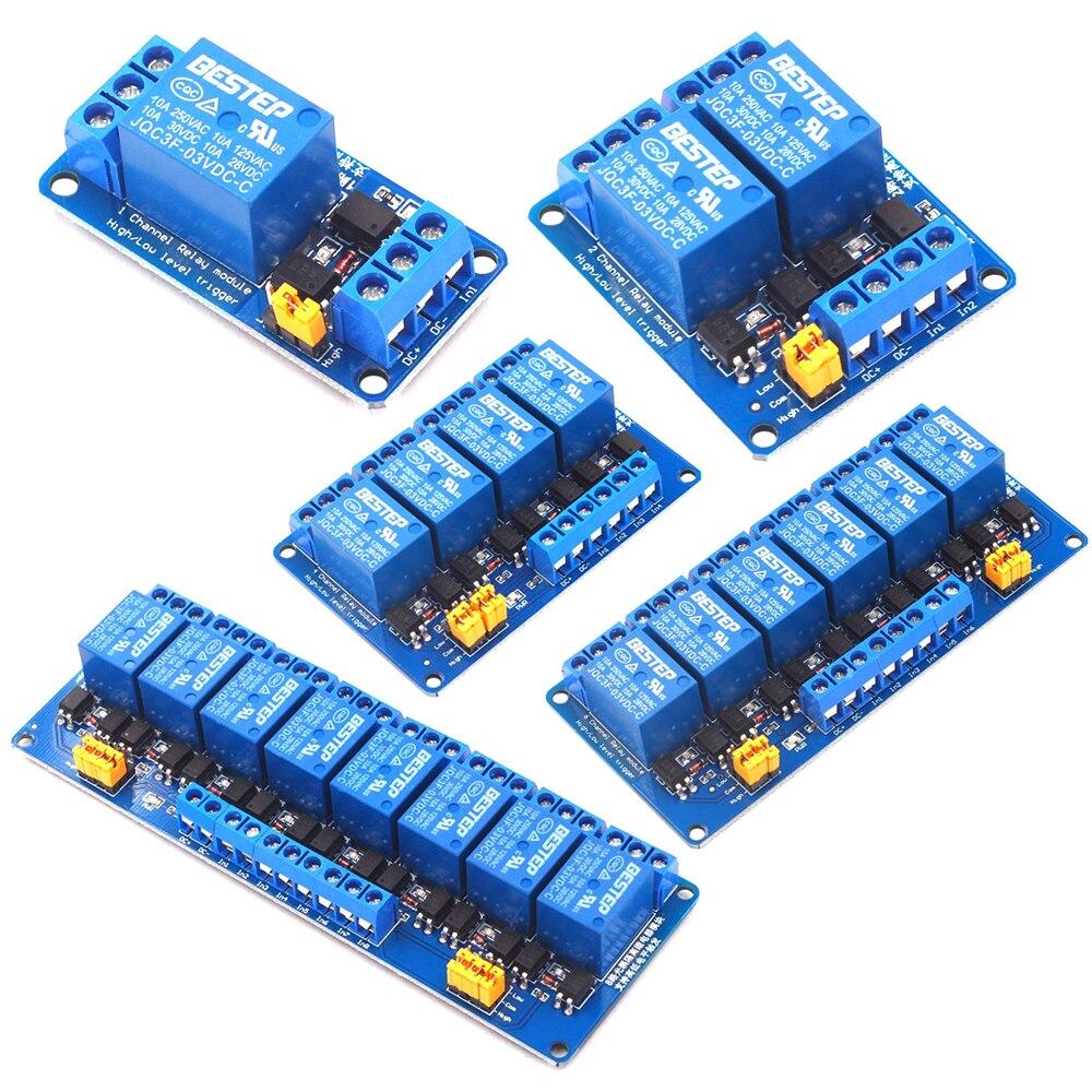 Módulo de canal de relé 3V 3,3 V 1/2/4/6/8 activador por flanco Dual optoacoplador aislamiento 3,3 V módulo de relé