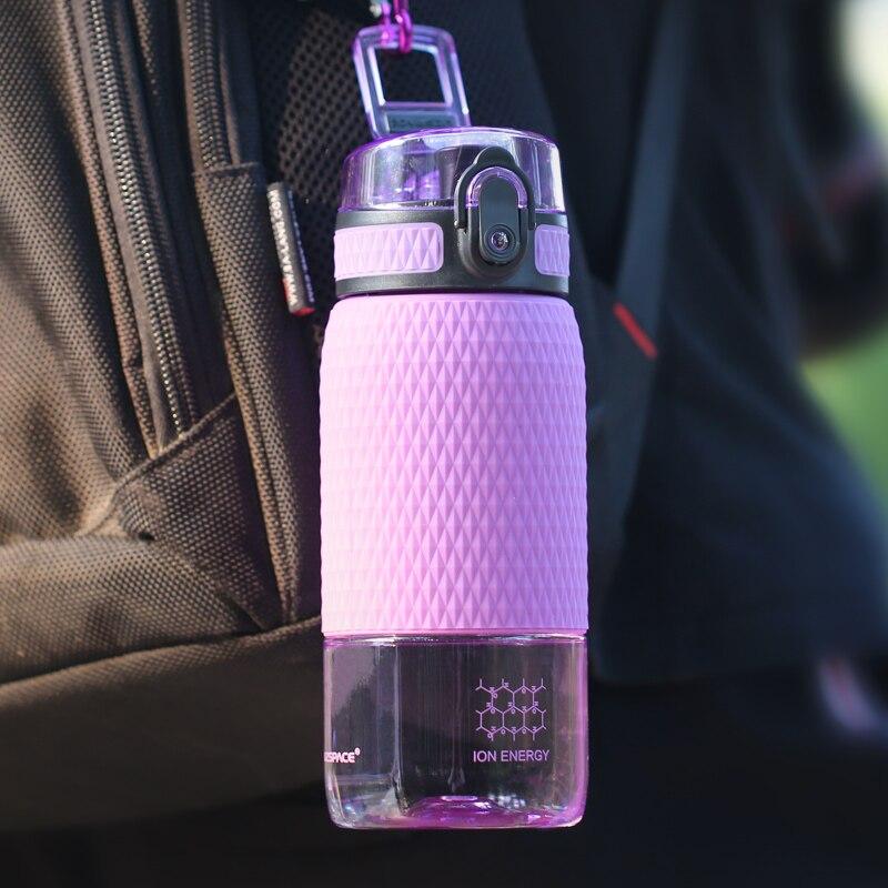 UZSPACE 350ml Tritan Sports Water Bottles Creative Portable buckle Lemon fruit tea Filter Shaker Drink Bottle For Water BPA Free