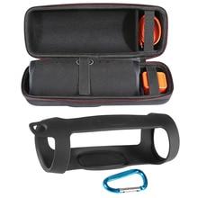 2 in 1 Fest EVA Zipper Carry Lagerung Box Tasche + Weiche Silikon Fall Abdeckung für JBL Ladung 4 Bluetooth lautsprecher für JBL Charge4 Spalte