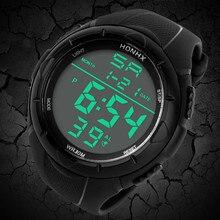 GEMIXIHot Salea mode hommes LED numérique alarme Sport montre Silicone militaire armée Quartz montre-bracelet livraison directe 2018
