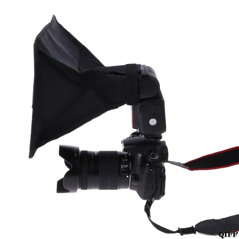 Drop ship & atacado universal câmera dslr flash speedlight lambency softbox + bolsa saco conjunto apr28