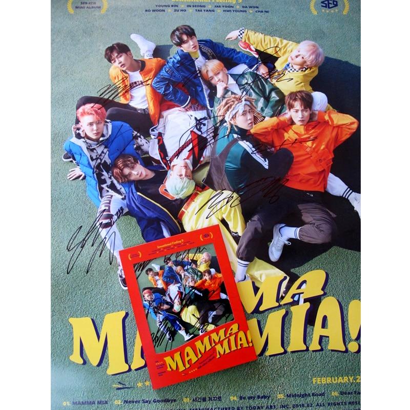hand signed SF9 autographed 2018 mini 4th album MAMMA MIA! CD+photobook K-POP 032018