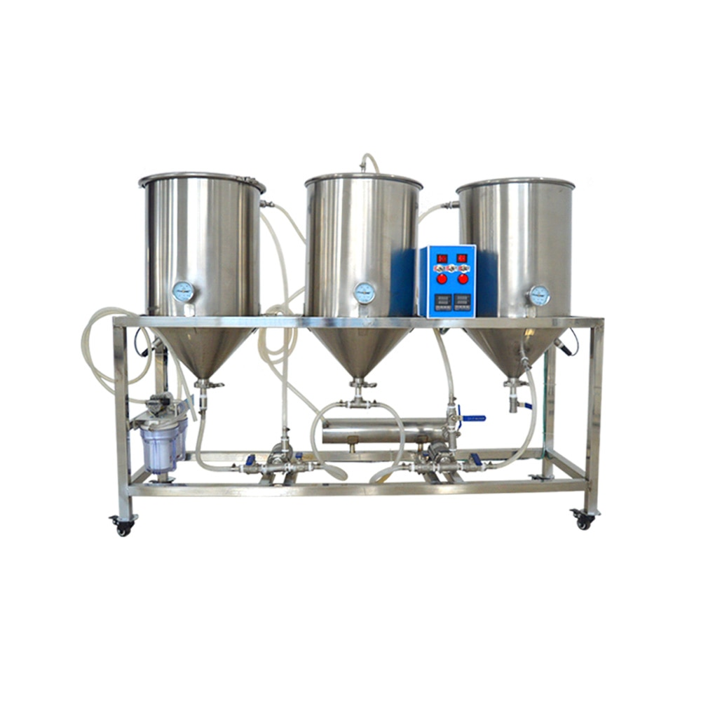 آلة البيرة المصنوعة يدويًا نصف الأوتوماتيكية سعة 50 لترًا ، تخمير المنزل ، مصنع الجعة ، صانع الجعة