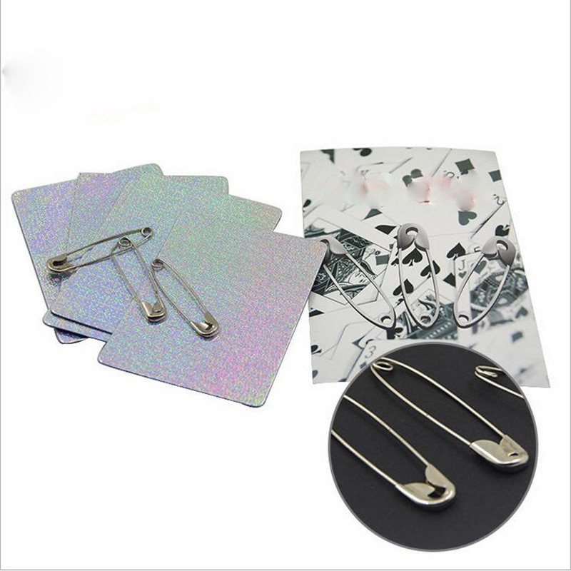Broche milagroso, Pin de seguridad que se mueve en la tarjeta, trucos de magia, Pins, tarjetas de acercamiento, accesorios mágicos, accesorios de fantasía misteriosa