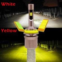 Xplus Double Color Yellow White 3000K 6000K 9600lumens 4800Lm*2pcs Car LED Headlight Kit H1 H3 H4 H7 H9 H11 9004 HB1 HB3 HB4
