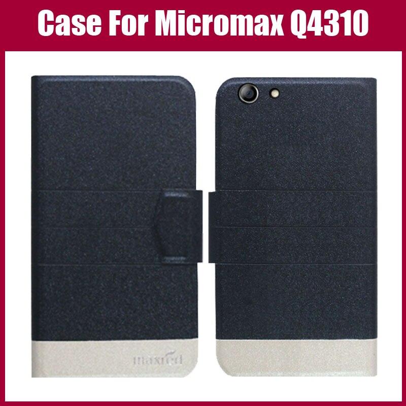¡Venta caliente! Micromax Q4310 lienzo 2 (2017) funda protectora de cuero ultrafina con tapa de moda de 5 colores de alta calidad